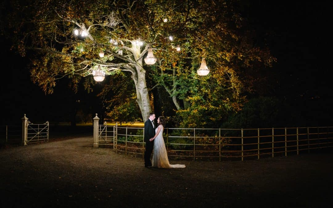 Bride and Groom Ballymagarvey Village lanterns