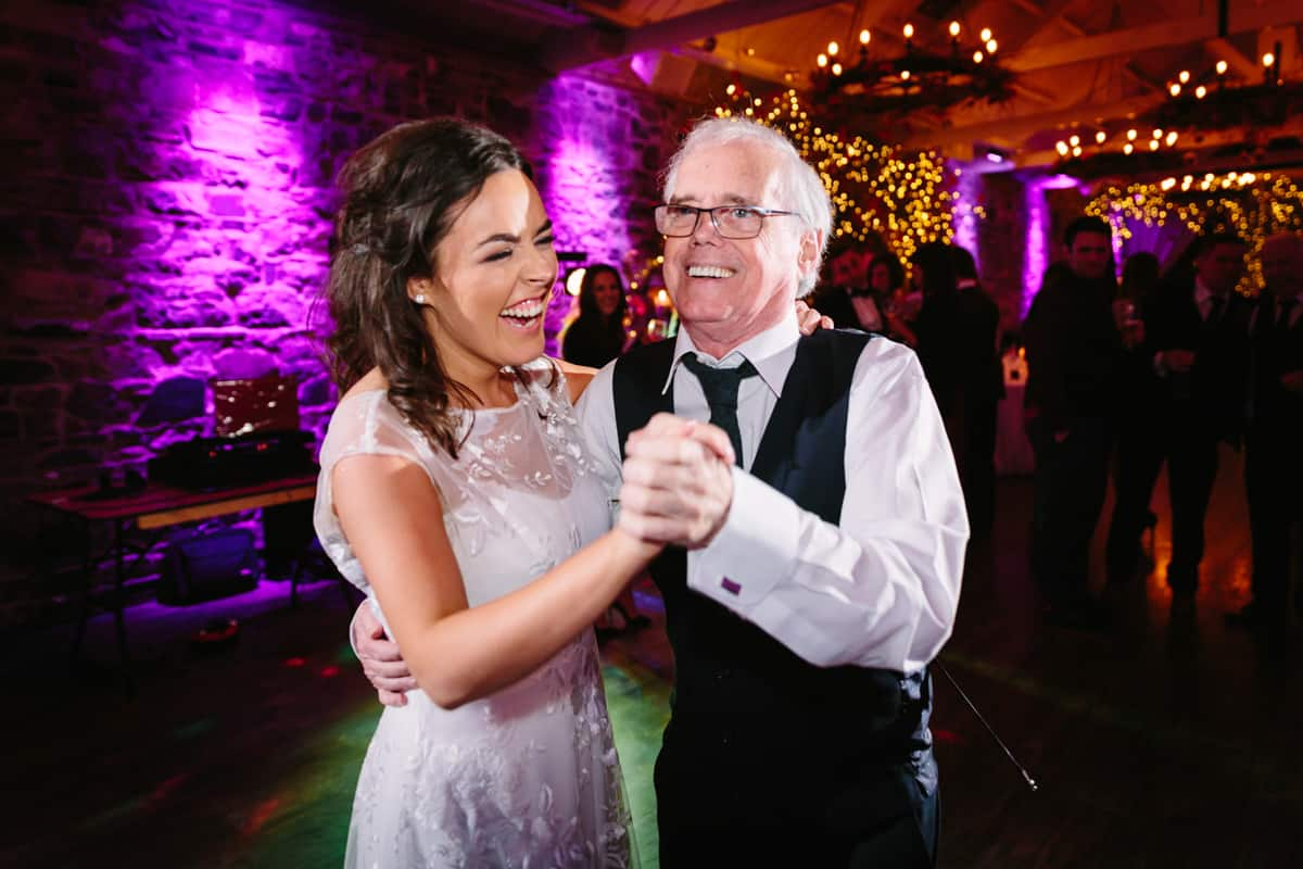 bride and granda dancing