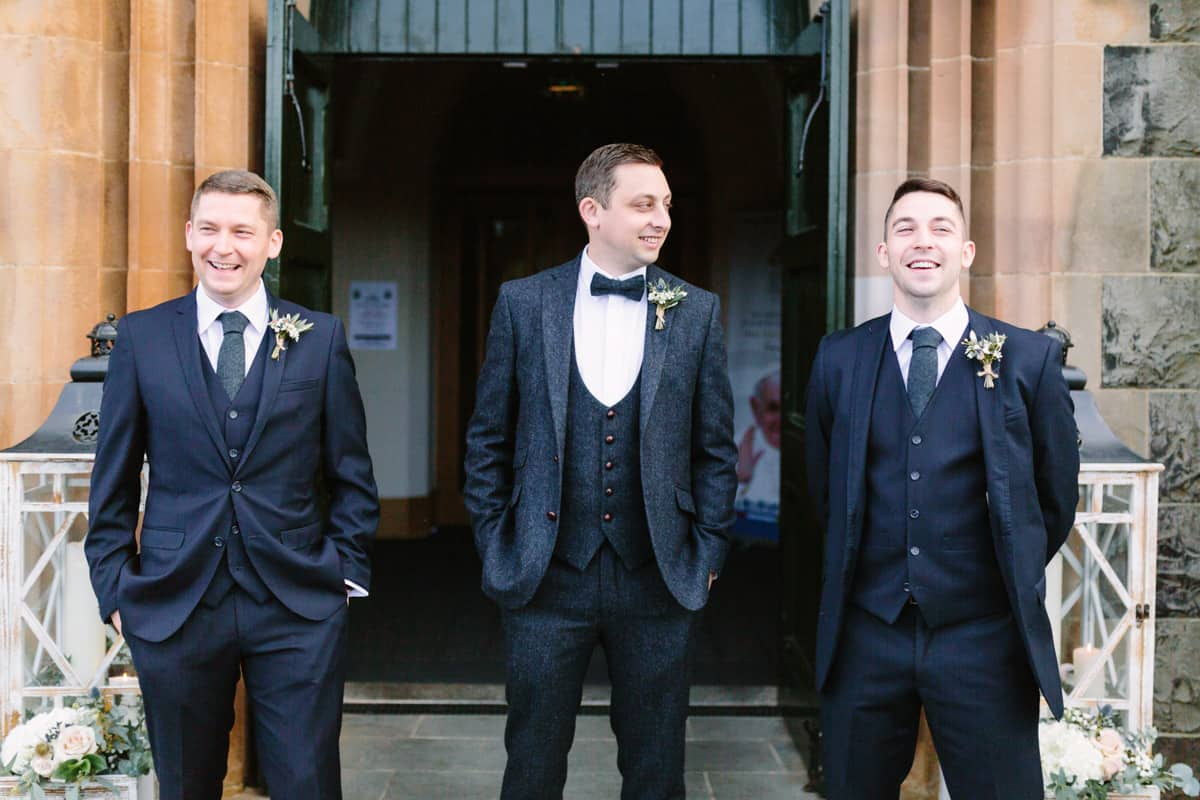 Groom and best men Wedding Photographer Northern Ireland