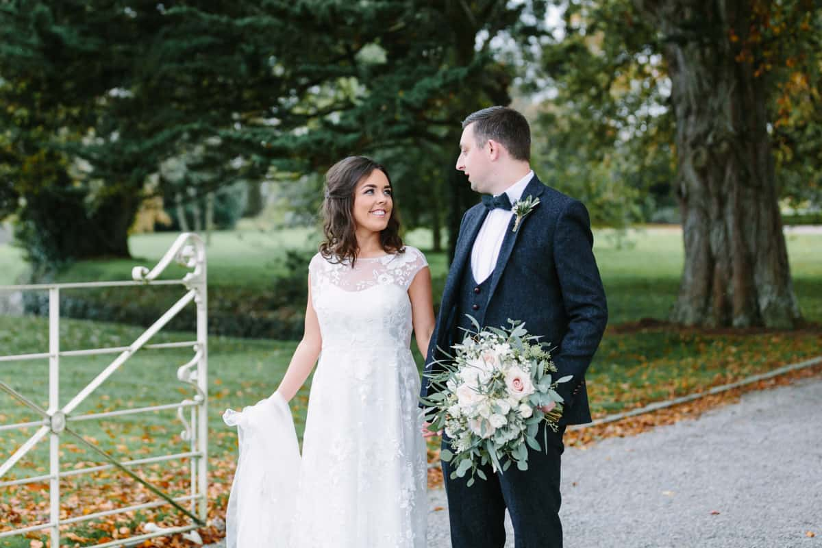 Bride and groom at Ballymagarvey Village