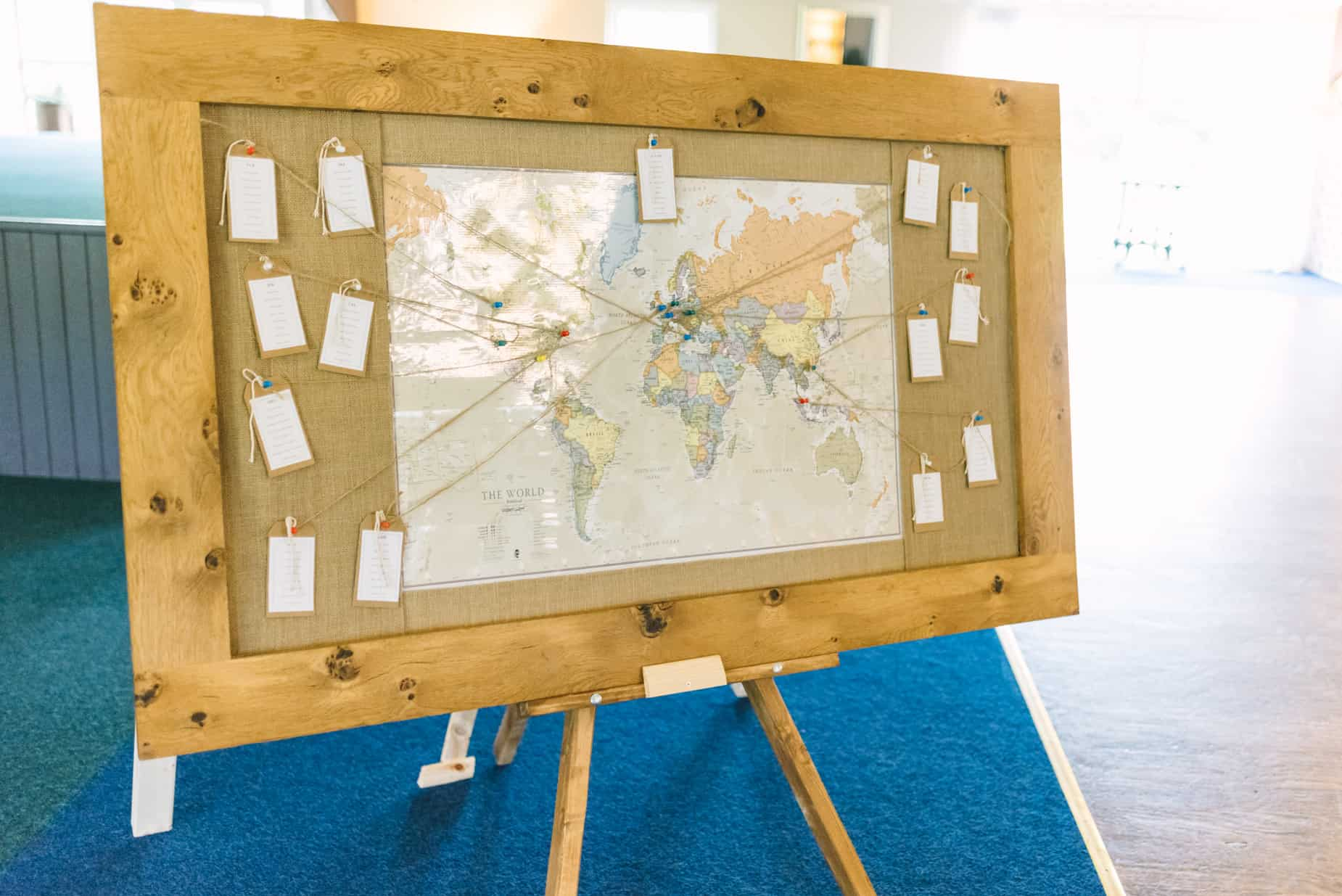 map of the world table plan for wedding