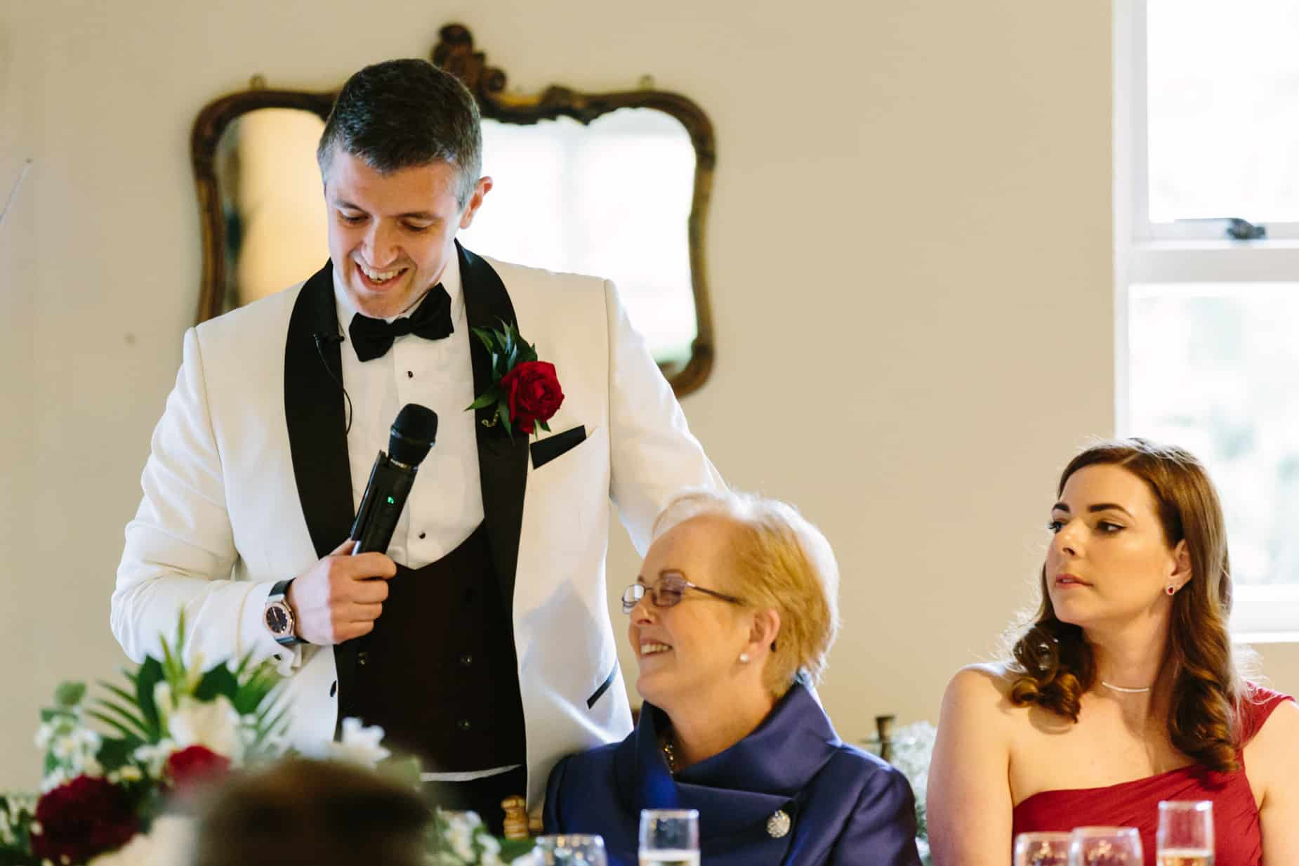 grooms speech at his wedding with his new mother in law