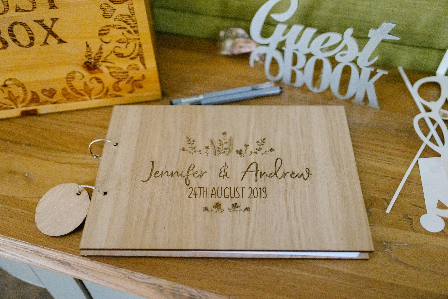 wedding signing book